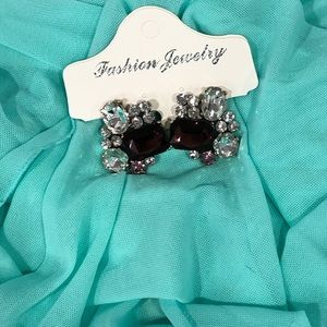 BNWT crystals stud statement earrings